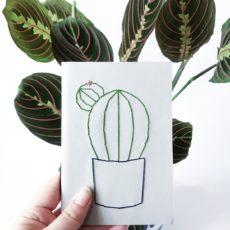 Hímzett jegyzetfüzet kaktusz A5 sima
