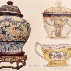 Porcelán eredeti régi nyomat