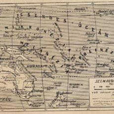 Ausztrália eredeti régi nyomat