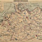 Németország eredeti régi nyomat