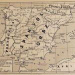 Spanyolország eredeti régi nyomat