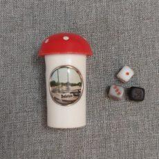 Balaton emlék retro gomba dobókockával