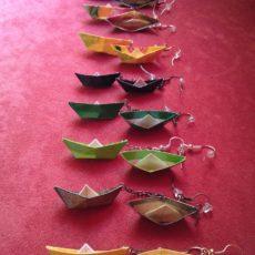 Csónakok origami ékszer