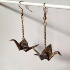 Bronz daru origami ékszer