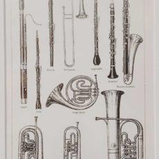 Fúvós hangszerek eredeti régi nyomat