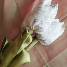 Kék-ezüst öko-tulipán csokor 3 szál