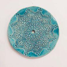 Mandala mintás türkiz kerámia szappantartó