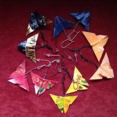 Pillangók origami ékszer