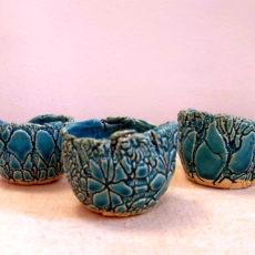 Türkiz kék kerámia csésze kupica