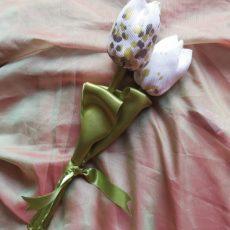 Zöld-ezüst öko-tulipán csokor 3 szál