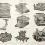 írógépek eredeti régi nyomat