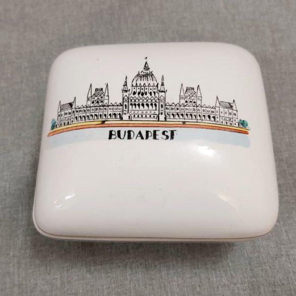 Budapest Parlament retro szuvenír bonbonier