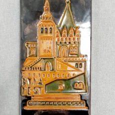 Budapest retro szuvenír kerámia falikép