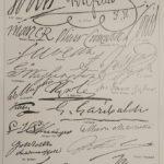 Aláírások államfők eredeti régi nyomat