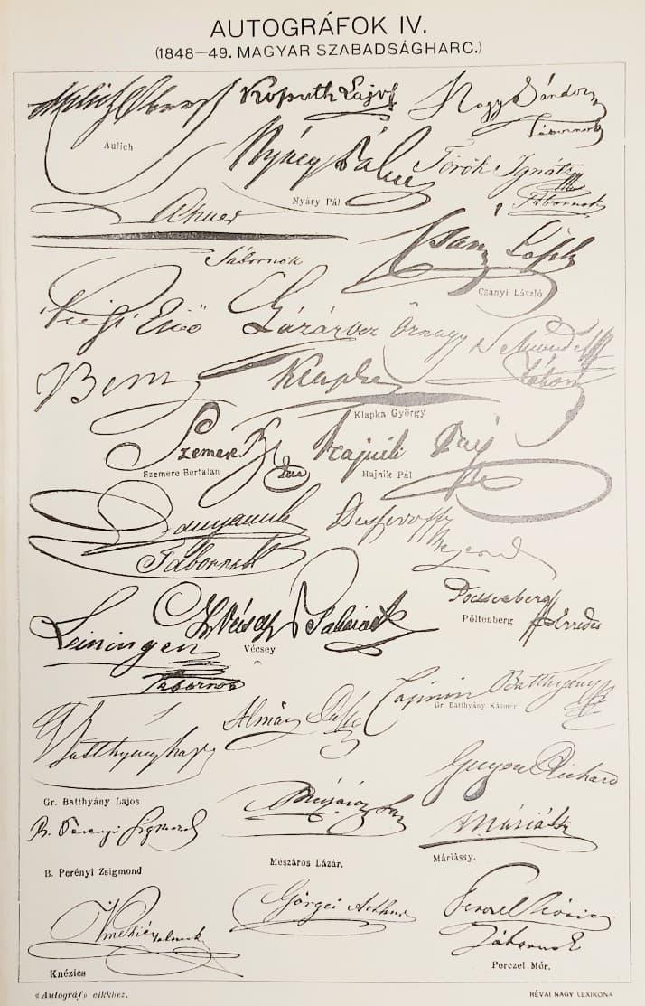 Aláírások szabadságharc eredeti régi nyomat