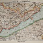 Balaton térkép régi nyomat
