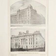 bank épületek eredeti régi nyomat
