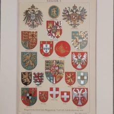 Címerek 1 eredeti régi nyomat
