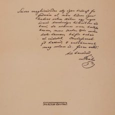 Deák Ferenc levele eredeti régi nyomat