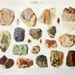 drágakövek eredeti régi nyomat