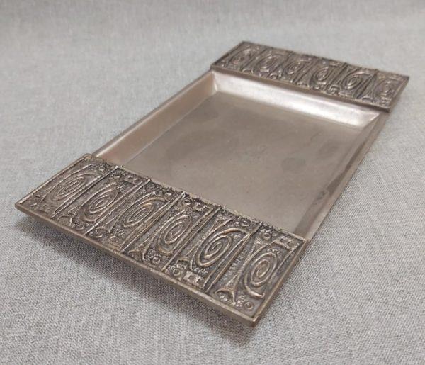 Dekoratív retro fém tálka