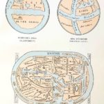 Föld térképek 11. században eredeti régi nyomat