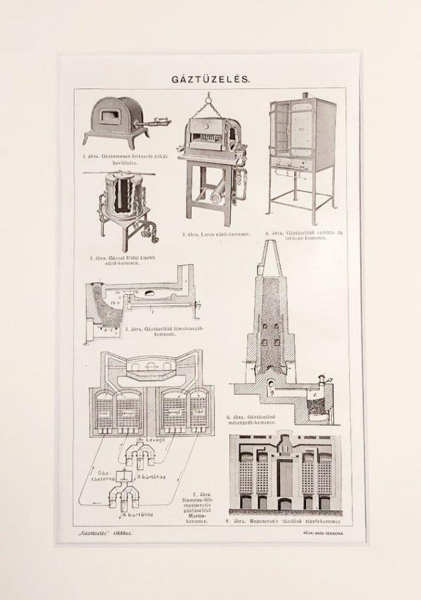 gáz fűtés eredeti régi nyomat