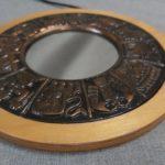 Horoszkóp mintás réz-fa retro tükör 2
