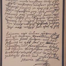Mária Terézia levele 2 eredeti régi nyomat