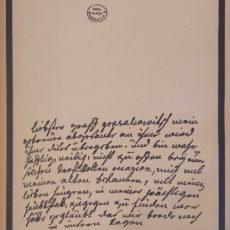 Mária Terézia levele eredeti régi nyomat