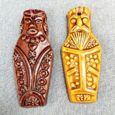 Mézeskalács kerámia retro figura pár