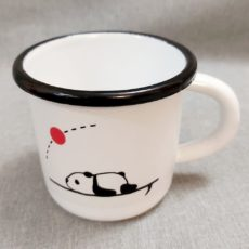 Panda zománc bögre M