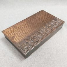 szüret 2 fém retro doboz
