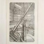 távcső ekvatoriál Szentpétervár eredeti régi nyomat