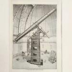 távcső ekvatoriál Yerkes eredeti régi nyomat
