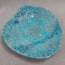 Türkiz kék kerámia tál 4