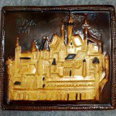 Budapest 1541 kerámia retro falidísz