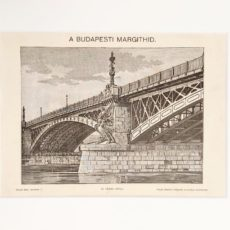 Budapest Margit-híd eredeti régi nyomat