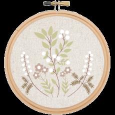 DIY mezei virágok hímző szett
