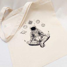 űrhajós meditáció vászon táska totebag