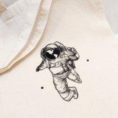 Űrhajós vászon táska totebag