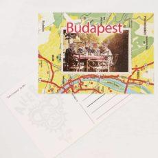 Asztaltársaság Budapest képeslap