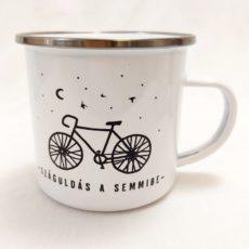 Bicaj kerékpár zománc bögre L