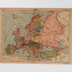Európa eredeti antik nyomat A3