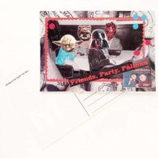 Friends, party, pálinka képeslap