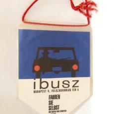 IBUSZ auto retro reklámzászló