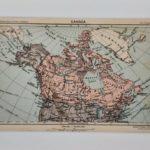Kanada eredeti antik nyomat