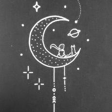 Kis herceg holdon fekete vászon táska totebag