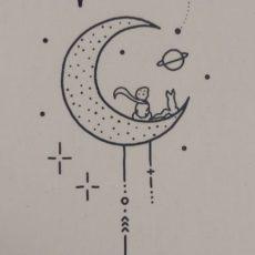 Kis herceg holdon vászon táska totebag