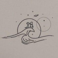 Kis herceg hullám vászon táska totebag